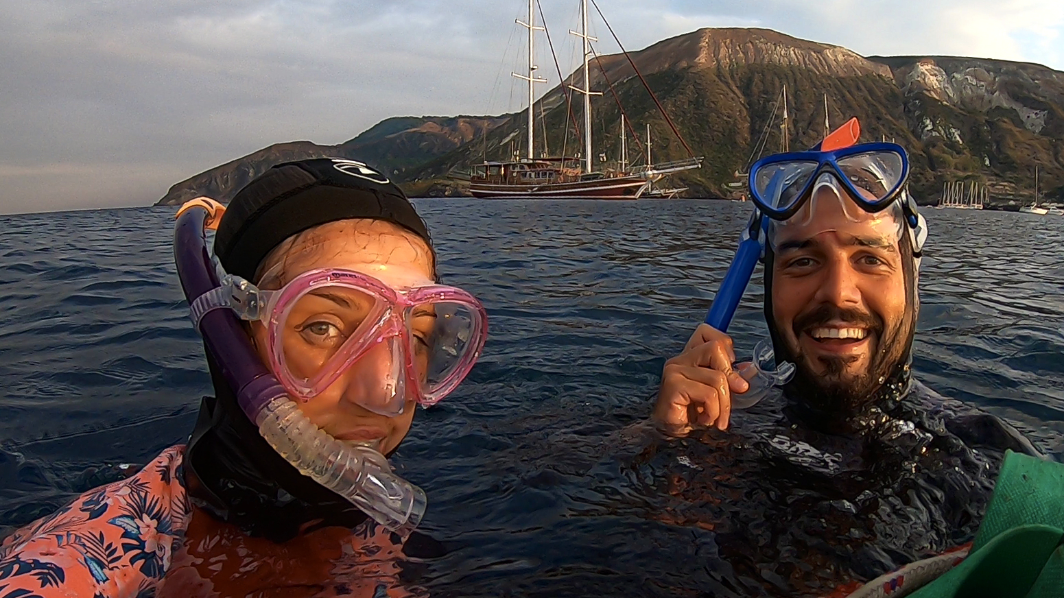 Federica and Alessandro, Freediving course