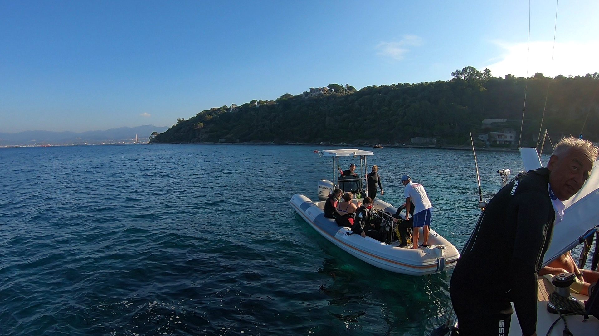 Capo Milazzo - Back from diving